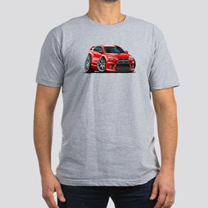 Mitsubishi Evo Red Car Men's Fitted T-Shirt (dark)