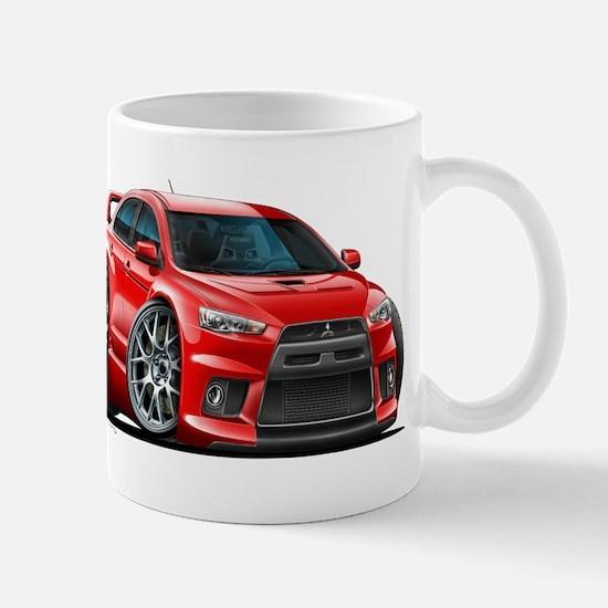 Mitsubishi Evo Red Car Mug