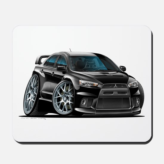 Mitsubishi Evo Black Car Mousepad
