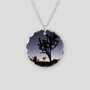 Joshua Tree Twilight Necklace Circle Charm
