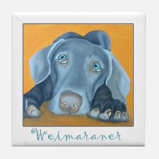 Weimaraner Art Tile Coaster