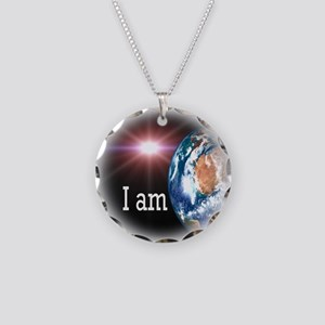 I AM Necklace Circle Charm