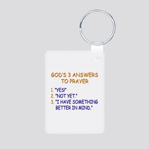 GOD'S ANSWERS TO PRAYER Aluminum Photo Keychain