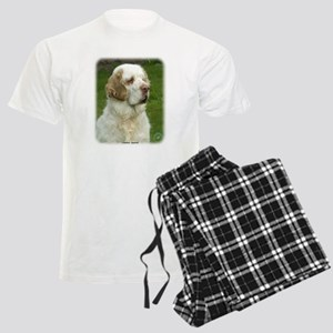 Clumber Spaniel 9Y003D-101 Men's Light Pajamas