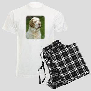 Clumber Spaniel 9Y003D-101 Men's Light Pajamas