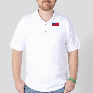 Samoa Flag Golf Shirt