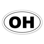 OH the first half of OHIO Oval Sticker