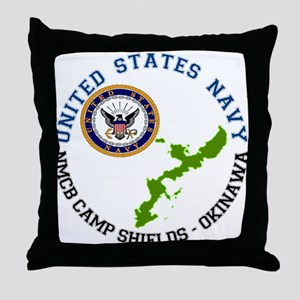 NMCB Cp. Shields Throw Pillow