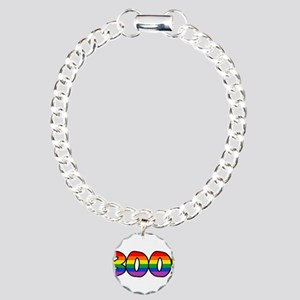 Halloween Rainbow BOO Charm Bracelet, One Charm