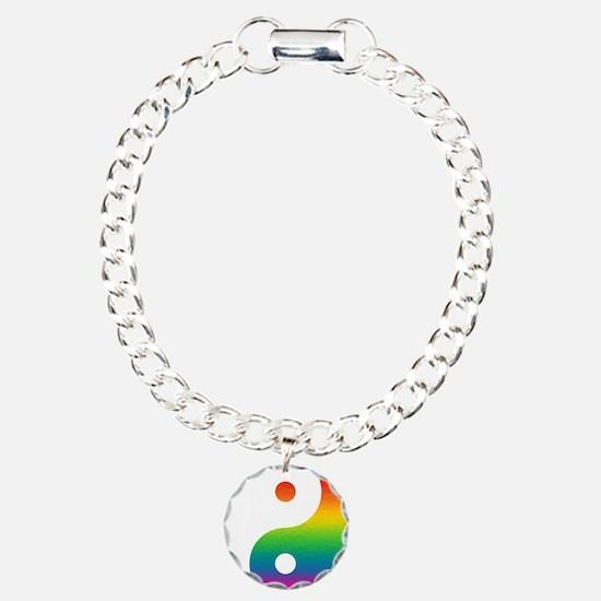 Rainbow Yin Yang Bracelet
