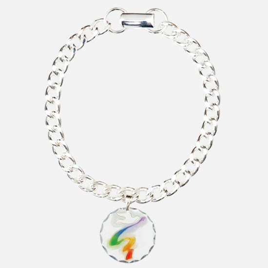 Dove with Rainbow Ribbon Bracelet