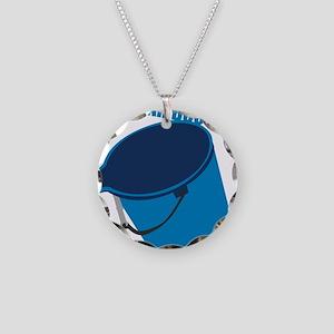 Mah Bucket Necklace Circle Charm