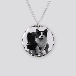 Fluent in Lolcat Necklace Circle Charm