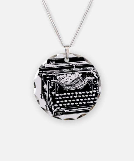 Old Fashioned Typewriter Necklace