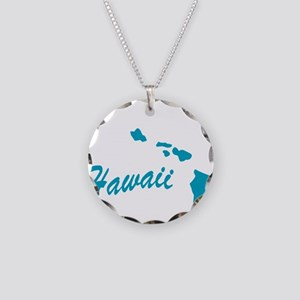 State Hawaii Necklace Circle Charm