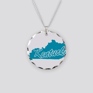 State Kentucky Necklace Circle Charm