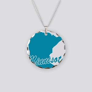 State Minnesota Necklace Circle Charm