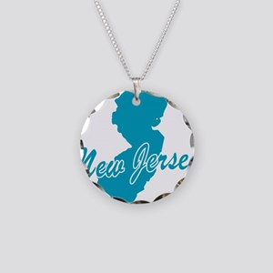 State New Jersey Necklace Circle Charm