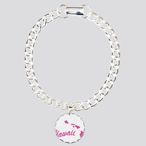 Pink Hawaii Charm Bracelet, One Charm