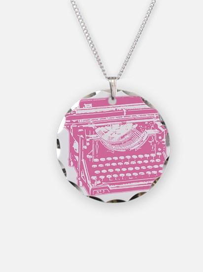 Pink Typewriter Necklace