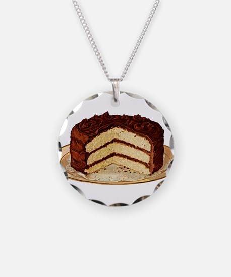 Retro Cake T-shirts Necklace