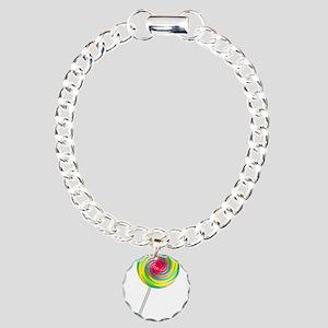 Swirly Lollipop Charm Bracelet, One Charm
