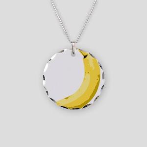 Banana Necklace Circle Charm