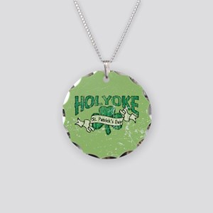 Retro Holyoke St. Patrick's D Necklace Circle Char