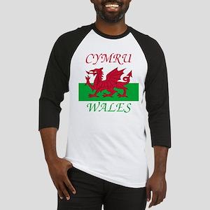 Cymru-Wales Baseball Tee