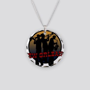 Retro New Orleans Necklace Circle Charm