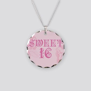 Sweet Sixteen Necklace Circle Charm