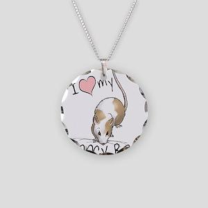 I Love My Fancy Rat Necklace Circle Charm