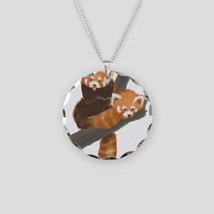 Red Pandas Necklace Circle Charm