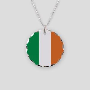 Ireland Irish Flag Necklace Circle Charm