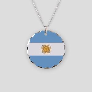 Argentina Flag Necklace Circle Charm