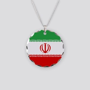 Iran Flag Necklace Circle Charm