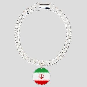 Iran Flag Charm Bracelet, One Charm