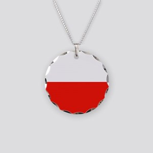 Poland Flag Necklace Circle Charm