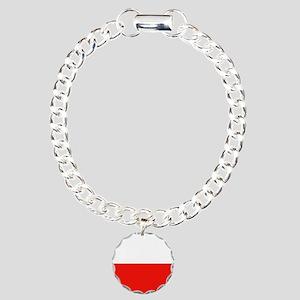 Poland Flag Charm Bracelet, One Charm