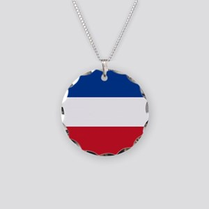 Serbia And Montenegro Necklace Circle Charm