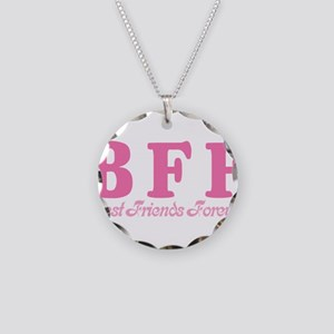Best Friends Forever BFF Necklace Circle Charm