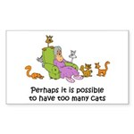 Too Many Cats Rectangle Sticker