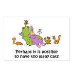 Too Many Cats Postcards (Package of 8)