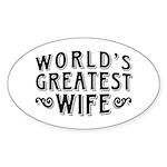 World's Greatest Wife Sticker (Oval)