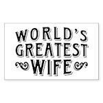 World's Greatest Wife Sticker (Rectangle)
