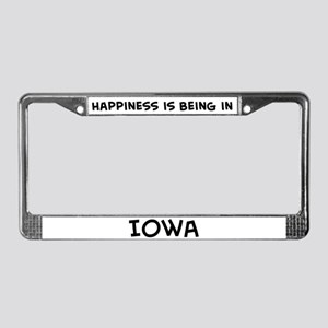 Happiness is Iowa License Plate Frame