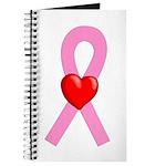 Pink Ribbon Heart Journal
