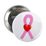 Pink Ribbon Heart 2.25