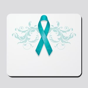 Teal Ribbon Mousepad