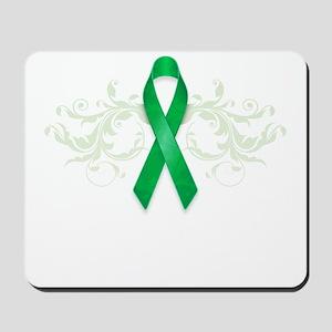 Green Ribbon Mousepad